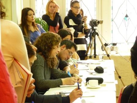 Algunos de los medios asistentes